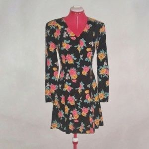The Limited black floral dress
